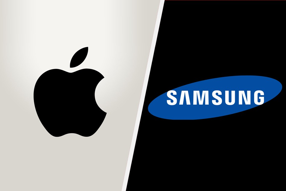 Logos of Apple and Samsung